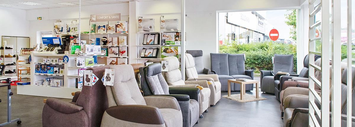gamme fauteuil releveur confort et santé moteur spécialiste maintien à domicile brest